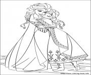 frozen characters birthday colouring page coloring pages