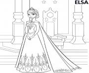 elsa and olaf with cake colouring page coloring pages