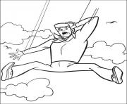 Print fred falling from sky scooby doo 7fc1 coloring pages