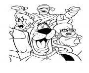 Print mummy chasing them all scooby doo 0a80 coloring pages