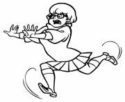 Printable velma running afraid scooby doo fdce coloring pages