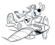 Print scooby as a pilot scooby doo 8161 coloring pages