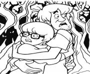 Print shaggy and velma scared scooby doo ccc6 coloring pages