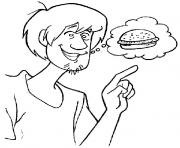 Print shaggy wants burger scooby doo 779e coloring pages