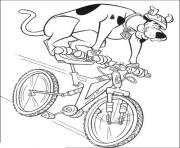 Print scooby riding a bike 68cc coloring pages