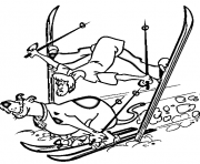 Print scooby and shaggy skiing scooby doo 9a09 coloring pages