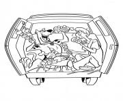 Print scooby and shaggy making bbq 4695 coloring pages