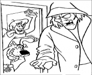 Printable shaggy say hi to zombie scooby doo 96c1 coloring pages