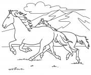 Printable running white horse s0e59 coloring pages