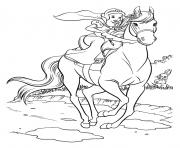 Printable disney snow white horse riding 30d5 coloring pages