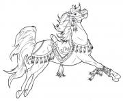 Print beautiful horse s5761 coloring pages