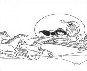 aladdin s flying with horses0ea4 coloring pages