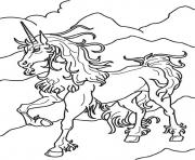 Print unicorn magical horse sf260 coloring pages