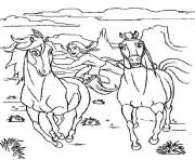 Printable cartoon horse s of spirit320f coloring pages
