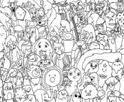 Printable free cartoon adventure time se41d coloring pages