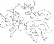 awesome adventure time s6e4e coloring pages