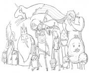 printable adventure time s7456 coloring pages