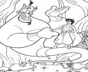 genie aladdin s cartoon picsfbea coloring pages