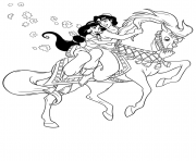 aladdin and jasmine rides huge horse disney coloring pagesfae0 coloring pages