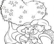 princess jasmine and aladdin s0bad coloring pages