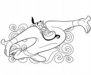 Print the genie from the magic lamp disney coloring pagese4d4 coloring pages