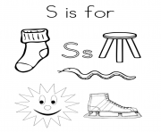 Printable words from s alphabet 5dc1 coloring pages