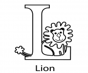 lion alphabet s free845b coloring pages