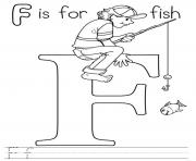 Print f is for fish alphabet s free printable6814 coloring pages