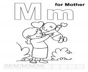 lovely mother free alphabet sc83b coloring pages