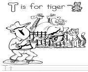 Print alphabet  t for tiger7389 coloring pages