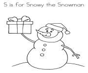 snowy the snowman alphabet 5f2e coloring pages