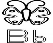 Print butterfly b alphabet sfd9a coloring pages