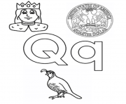 Print q words alphabet s45b3 coloring pages