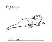 Printable otter alphabet saa0e coloring pages