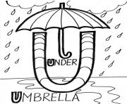 Print under umbrella alphabet s freed800 coloring pages