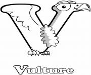 Printable alphabet s vulture1ef8 coloring pages