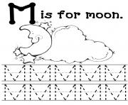 Print moon free alphabet sf49d coloring pages
