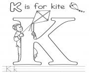 Print alphabet s free kids play kite7b45 coloring pages