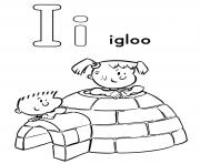 Print alphabet color pages i for igloocf24 coloring pages