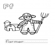 Print farmer free alphabet s1245 coloring pages