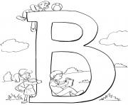 Print kids alphabet s b word23da coloring pages