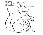 Print kangaroo alphabet s free1ca9 coloring pages