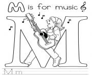 Print music free alphabet s9145 coloring pages