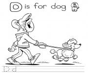 printable alphabet s letter d is for dog7c59 coloring pages