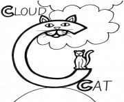 Print cloud and cat s alphabet9a5f coloring pages