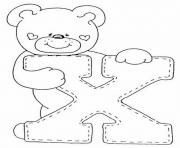 Printable cute bear x alphabet s53d5 coloring pages