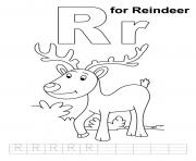 Print reindeer free alphabet sae3a coloring pages