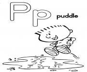 Print puddle free alphabet s04cd coloring pages