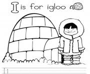 Print letter i for igloo alphabet color pages8916 coloring pages