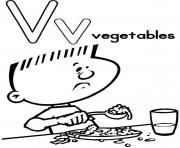 Print free vegetables alphabet s6904 coloring pages